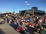 Black Lives Matter protest in St. Paul on August 10, 2015. Staging a 'die-in'.