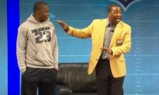 Teddy Bridgewater, left, and Cris Carter.