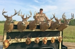 Deer mounts seized by the DNR in a deer poaching investigation.