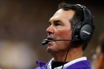 NEW ORLEANS, LA - SEPTEMBER 21:  Head coach Mike Zimmer of the Minnesota Vikings watches action during the third quarter of a game against the New Orleans Saints at the Mercedes-Benz Superdome on September 21, 2014 in New Orleans, Louisiana.  (Photo by Wesley Hitt/Getty Images)