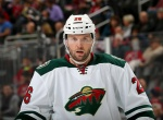 NEWARK, NJ - NOVEMBER 11:  Thomas Vanek #26 of the Minnesota Wild looks on before a face off in the third period against the New Jersey Devils on November 11, 2014 at the Prudential Center in Newark, New Jersey.The New Jersey Devils defeated the Minnesota Wild 3-1.  (Photo by Elsa/Getty Images)