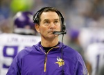 DETROIT, MI - DECEMBER 14: Minnesota Vikings head coach Mike Zimmer watches the action during the second quarter of the game against the Detroit Lions at Ford Field on December 14, 2014 in Detroit, Michigan. The Lions defeated the Vikings 16-14. (Photo by Leon Halip/Getty Images)