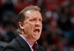 ATLANTA, GA - JANUARY 25:  Flip Saunders of the Minnesota Timberwolves yells to his team during the game against the Atlanta Hawks at Philips Arena on January 25, 2015 in Atlanta, Georgia.  NOTE TO USER: User expressly acknowledges and agrees that, by downloading and or using this photograph, User is consenting to the terms and conditions of the Getty Images License Agreement.  (Photo by Kevin C. Cox/Getty Images)