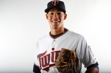FORT MYERS, FL - MARCH 3:  Jose Berrios #68 of the Minnesota Twins poses for a photo on March 3, 2015 at Hammond Stadium in Fort Myers, Florida.  (Photo by Brian Blanco/Getty Images)