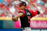 CINCINNATI, OH - JULY 12:  Jose Berrios #37 of the World Team throws a pitch in the first inning against the U.S. Team during the SiriusXM All-Star Futures Game at the Great American Ball Park on July 12, 2015 in Cincinnati, Ohio.  (Photo by Rob Carr/Getty Images)
