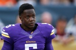 CANTON, OH - AUGUST 9: Teddy Bridgewater #5 of the Minnesota Vikings looks on in the first quarter of the NFL Hall of Fame Game against the Pittsburgh Steelers at Tom Benson Hall of Fame Stadium on August 9, 2015 in Canton, Ohio. (Photo by Joe Robbins/Getty Images)