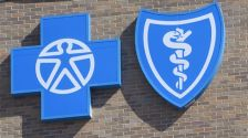Blue Cross and Blue Shield signage.  iStock photo - okay to reuse.