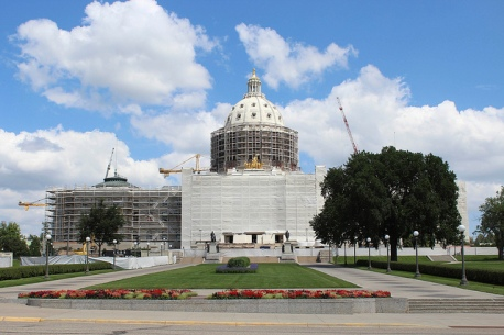 Minnesota Capitol restoration in summer