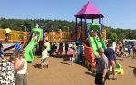 The Tri-Angels Playground, dedicated in River Falls, Wisconsin on Saturday August 15, 2015.