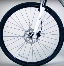 bike wheel with disc brake