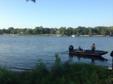 Deputies at boat accident