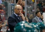 Minnesota Wild head coach Mike Yeo watches his team during the second period of an NHL preseason hockey game against the Buffalo Sabres in St. Paul, Minn., Thursday, Oct. 1, 2015. (AP Photo/Ann Heisenfelt)