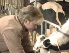 Loretta Jaus on the farm