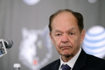 Minnesota Timberwolves team owner Glen Taylor listens to a question during a media availability in Minneapolis, Friday, June 6, 2014.  (AP Photo/Ann Heisenfelt)