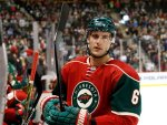 Minnesota Wild defenseman Marco Scandella (6) stands at the bench during the second period of an NHL preseason hockey game against the Buffalo Sabres in St. Paul, Minn., Thursday, Oct. 1, 2015. (AP Photo/Ann Heisenfelt)