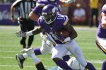 Minnesota Vikings wide receiver Mike Wallace (11) runs against the San Diego Chargers in the second half of an NFL football game in Minneapolis, Sunday, Sept. 27, 2015.  (AP Photo/Andy Clayton-King)