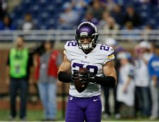 Minnesota Vikings free safety Harrison Smith (22) before an NFL football game against the Detroit Lions, Sunday, Oct. 25, 2015, in Detroit. (AP Photo/Duane Burleson)