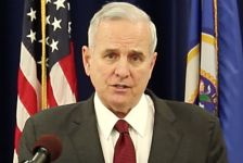 Gov. Mark Dayton speaks about the Jamar Clark shooting investigation on Nov. 21, 2015