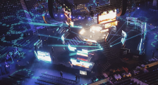 WE Day 2015 set up