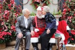 90 year olds with Santa