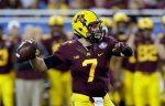 Minnesota quarterback Mitch Leidner throws during the first half of the Quick Lane Bowl NCAA college football game against Central Michigan, Monday, Dec. 28, 2015, in Detroit. (AP Photo/Carlos Osorio)