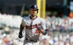 Minnesota Twins' Byron Buxton runs the bases after his solo home run during the eighth inning of a baseball game against the Detroit Tigers, Sunday, Sept. 27, 2015 in Detroit. (AP Photo/Carlos Osorio)