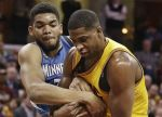 AP Images DO NOT REUSE Karl-Anthony Towns, Tristan Thompson