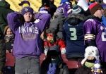 Minnesota Vikings fans react after an NFL wild-card football game between the Minnesota Vikings and the Seattle Seahawks, Sunday, Jan. 10, 2016, in Minneapolis. The Seahawks won 10-9. (AP Photo/Nam Y. Huh)