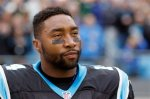 AP DO NOT REUSE- Carolina Panthers' Joe Webb (14) before an NFL football game against the Green Bay Packers in Charlotte, N.C., Sunday, Nov. 8, 2015. The Panthers won 37-29. (AP Photo/Bob Leverone)