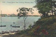 Coney Island boat landing 1915