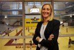 In this Monday, Aug. 10, 2015, photo, University of Minnesota interim athletic director Beth Goetz poses for a photo at the Sports Pavillion in Minneapolis. Goetz has stepped into the chaos at Minnesota after athletic director Norwood Teague left amid sexual harassment allegations and is tasked with stabilizing a shaken department. (AP Photo/Ann Heisenfelt)
