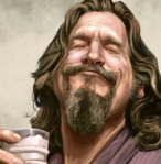 Painting of the Dude at Lebowski's