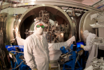 Scientists at gravitational wave detector