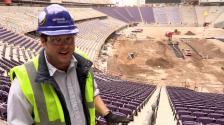 Dana at Vikings Stadium