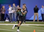 AP DO NOT REUSE Texas Christian receiver Josh Doctson runs a drill at the NFL football scouting combine on Saturday, Feb. 27, 2016, in Indianapolis. (AP Photo/Darron Cummings)