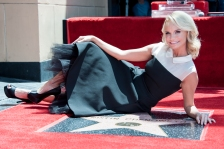 Kristin Chenoweth is honored with a star on the Hollywood Walk of Fame on Friday, July 24, 2015 in Los Angeles. (Photo by Richard Shotwell/Invision/AP)