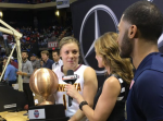 Rachel Banham holds championship