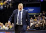 Chicago Bulls head coach Tom Thibodeau argues a call during the first half of an NBA basketball game against the Indiana Pacers, Monday, Dec. 29, 2014, in Indianapolis. (AP Photo/Darron Cummings)
