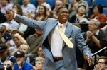 Minnesota Timberwolves head coach Sam Mitchell calls out to his team during the first half of an NBA basketball game against the New Orleans Pelicans, Wednesday, April 13, 2016, in Minneapolis. (AP Photo/Stacy Bengs)