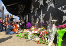 People mourn Prince outside of First Avenue. (Photo: BringMeTheNews)