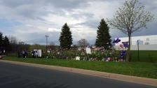 Tributes to Prince at Paisley Park. (Photo: Shaymus McLaughlin, BringMeTheNews)