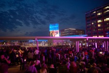 MINEAPOLIS,  MN APRIL 23: Purple Rain is shown at the Target Field Station as a memorial to Prince on April 23, 2016 in Minneapolis, Minnesota. © Tony Nelson