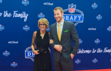 Carson Wentz on the red carpet (
