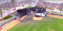 tink larson baseball field drone footage screengrab