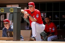 Minnesota Twins manager Paul Molitor watches as his team plays the Toronto Blue Jays at a baseball game Sunday, May 22, 2016, in Minneapolis. The Blue Jays won 3-1. (AP Photo/Bruce Kluckhohn)
