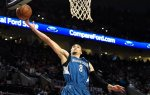 Minnesota Timberwolves guard Zach LaVine (8) loses control of the ball during the first quarter of an NBA basketball game against the Portland Trail Blazers in Portland, Ore., Saturday, April 9, 2016. (AP Photo/Steve Dykes)