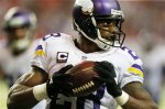Minnesota Vikings running back Adrian Peterson (28) runs into the end zone for a touchdown against the Atlanta Falcons during the second half of an NFL football game, Sunday, Nov. 29, 2015, in Atlanta. (AP Photo/Butch Dill)