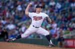 Minnesota Twins relief pitcher J.R. Graham pitches to the Kansas City Royals in the sixth inning of a baseball game Sunday, Oct. 4, 2015, in Minneapolis. The Royals won 6-1. (AP Photo/Bruce Kluckhohn)