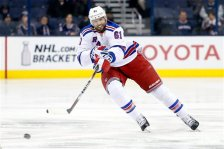 New York Rangers' Rick Nash plays against the Columbus Blue Jackets during an NHL hockey game Monday, April 4, 2016, in Columbus, Ohio. (AP Photo/Jay LaPrete)