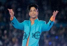 Prince performs during the halftime show at the Super Bowl XLI football game at Dolphin Stadium in Miami on Sunday, Feb. 4, 2007. (AP Photo/David J. Phillip)